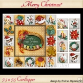 Card Topper Happy Christmas