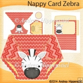 Nappy Card Zebra