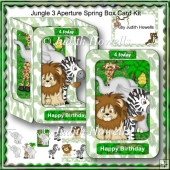 Jungle 3 Aperture Spring Box Card Kit