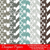 Modern Hues Pkg4 Digital Designer Patterns Scrapbooking Papers