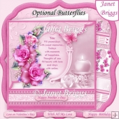 YOU VERSE & PINK ROSES 8x8 Decoupage & Insert All Occasions Kit