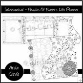 Inkenomical - Shades Of Flowers Life Planner