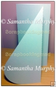 Tri Fold Teardrop Card Template Overlay PDF Sheet