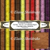 Textured Faux Artex Plaster - Ten 12 x 12 Sheets Backing Papers