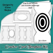 Cracker Shaped Card Template