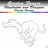 Greyhound Digi Stamp