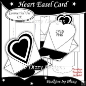 Heart Easel Card Template