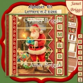 TRADTITIONAL SANTA 7.5 Quick Card Kit Create Any Name Alphabet