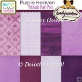 Purple Heaven Backing Paper Set