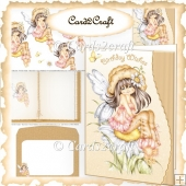 Daisy fairy wavy edge card set