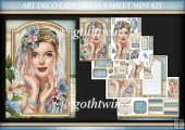 Art Deco Lady Emilia 4 Sheet Mini Kit Light Blue