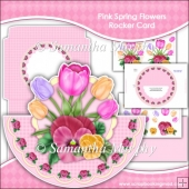 Pink Spring Flowers Rocker Card Download