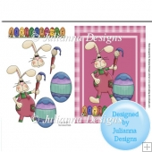 Easter Bunny Egg Painter Card Topper