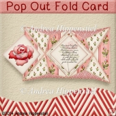 Pop Out Fold Card red Rose