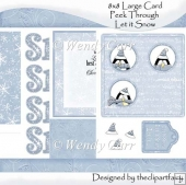 Large Peek Through Card - Let it Snow(Retiring in August)