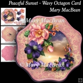 Peaceful Sunset - Wavy Octagon Card