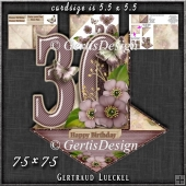 Vintage Easel 30th Birthday Card Kit 1177