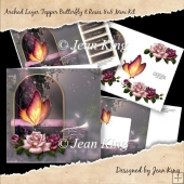 Arched Layer Topper Butterfly & Roses 8x8 Mini Kit