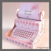 Vintage Rose Typewriter Gift Box