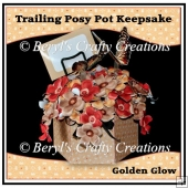 Golden Glow Posy Pot Keesake