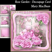 Rose Carden - Decoupage Card
