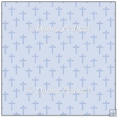 Light Blue Christening Crosses Backing Paper