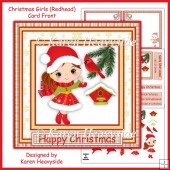 Christmas Girls (Redhead) Card Front