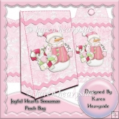 Joyful Hearts Snowman Pinch Bag