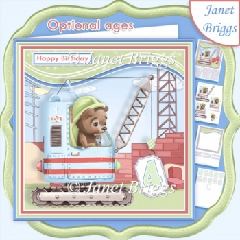 CRANE 7.5 Decoupage & Optional Ages Card Kit