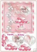 Make a Wish Birthday Card Topper with Decoupage
