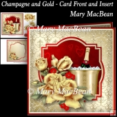 Champagne and Gold - Card Front and Insert