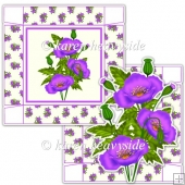 Purple Poppy 5 x 5 Square Box