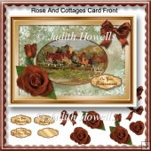 Rose And Cottages Card Front