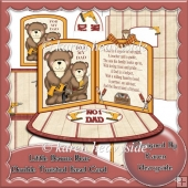 Little Brown Bear Dad Double Twisted Easel Card