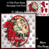 A Visit from Santa Decoupage Card Front