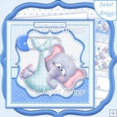 NEW BABY BOY ELI 7.5 Decoupage & Insert Mini Kit