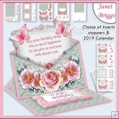 DELICATE BOUQUET Envelope Easel Kit All Occasions 2019 Calendar