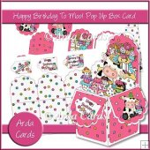 Happy Birthday To Moo! Pop Up Box Card