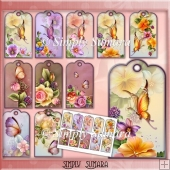 10 Floral & Butterfly Tags