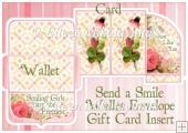 Send a Smile Gift Card Money Wallet with Greeting Insert