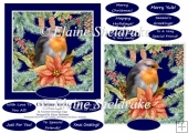 Christmas Robin 6 X 6 Card Topper & Assorted Greetings