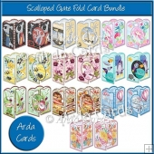 Scalloped Gate Fold Card Bundle