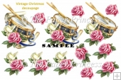 Christmas Drum Decoupage Sheet and Clipart. Commercial Use