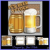 IT'S BEER O'CLOCK card kit with matching inserts