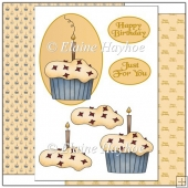 Birthday Cupcake Decoupage