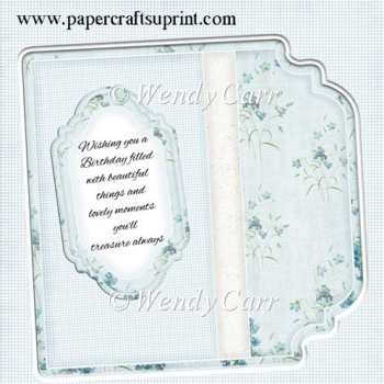 Square Fancy Edges Card Front - Floral 4(Retiring in August)