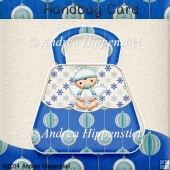Handbag Card Winterangel Baby Boy