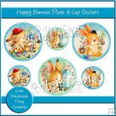 Happy Bunnies Plate & Cup Stickers