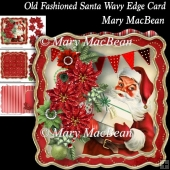 Old Fashioned Santa Wavy Edge Card