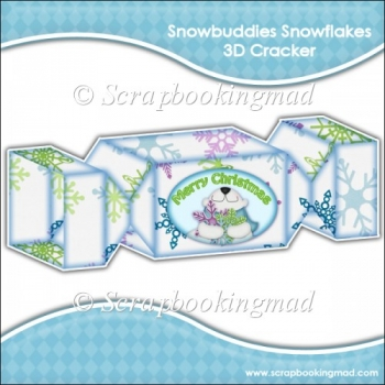 Snowbuddies Snowflakes 3D Cracker